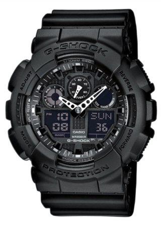 Afbeelding van Zwarte Casio G-Shock GA-100-1A1ER - Horloge - Kunststof - Zwart - Ø 50 of 52 mm