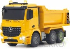 Jamara R/C-Dumptruck Mercedes Arocs 3+4-Kanaals RTR / Geluid / Met Verlichting / 4WD 2.4 GHz Control 1:20 Geel R/C-Dumptruck Mercedes Arocs 3+4-Kanaals RTR / Geluid / Met Verlichting / 4WD 2.4 GHz Control 1:20 Geel