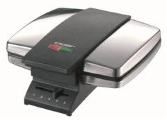 Cloer tosti-/wafelijzer wafelautomaat, RVS/zwart, beh met, verm 950W