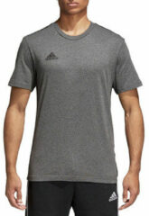Antraciet-grijze Adidas Performance sport T-shirt Core 18 antraciet