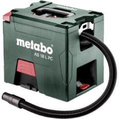 Metabo AS 18 L PC 602021850 Droogzuiger Set 7.50 l Zonder accu, Stofklasse L gecertificeerd