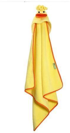Afbeelding van Gele Zoocchini baby badcape 100% katoen - Puddles the Duck