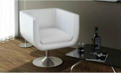 Merkloos / Sans marque Moderne draaibare Fauteuil Kunstleer Wit / Loungestoel / Lounge stoel / Relax stoel / Chill stoel / Lounge Bankje / Lounge Fauteuil - Luxe Fauteuil