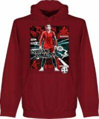 Bruine Retake Ronaldo Portugal Comic Hoodie - Paars - XXL