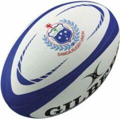 Blauwe Gilbert Samoa Official Replica rugbybal maat 5