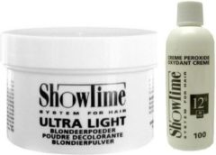[Combo] Showtime Ultralight Blondeerpoeder (100gram) + Showtime Oxidant Creme Peroxide 12% - (250ml)