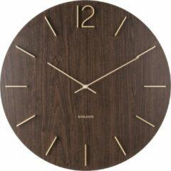 Donkerbruine Karlsson - Wandklok - Meek MDF dark wood - Doorsnede 50cm