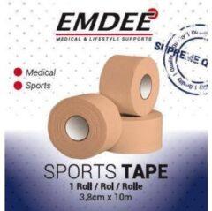 Emdee Sport tape 3.8 cm x 10 m huidkleur 1 Stuks