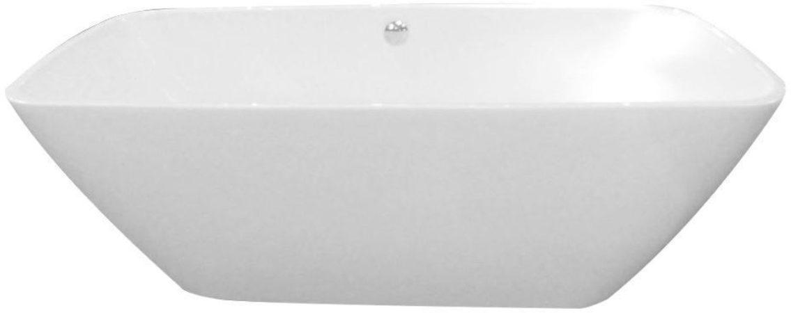 Afbeelding van Douche Concurrent Ligbad Vrijstaand Forma Rechthoek 80x170x60cm Glasvezelversterkt Hoogwaardig Acryl Glans Wit met Badwaste en Overloop