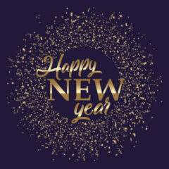 Haza Original Servetten Happy New Year 25 Cm Blauw 20 Stuks