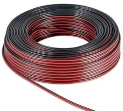 Rode Goobay 15024 Luidsprekerkabel 2 x 2.50 mm² Rood/zwart 100 m