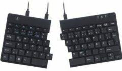 R-Go Tools Ergonomisch Bedraad Split Toetsenbord QWERTZ DE USB Zwart