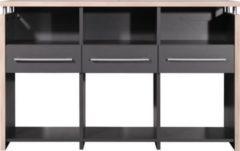 Dynamic24 Kombitisch f. Schreibtisch Berlin Computer PC Büro Beistelltisch Möbel anthrazit