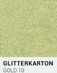 Gouden Glitterkarton notrakkarton Glitterkarton 10 gold A4 230 gr.