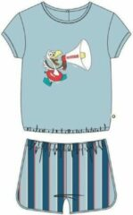 Woody pyjama baby meisjes - lichtblauw - zeemeeuw - 211-3-BST-S/807 - maat 62