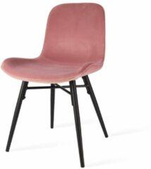 Roze Nolon Nova eetkamerstoel - velvet zitting dusty pink