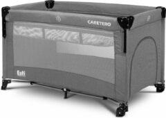 Caretero Esti Campingbed met 2 lagen inklapbaar - co sleeper- kinderbed met op wielen Graphiet