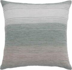 Beige Homing STREPEN KUSSENHOES polyester met ritssluiting 40 x 40 cm
