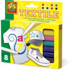 Ses Creative Kleurstiften Textiel 8 Stuks