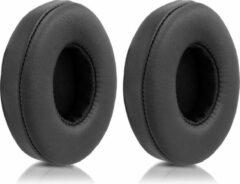 Kwmobile 2x oorkussens voor Beats Solo 2 Wireless / 3 koptelefoons - imitatieleer - voor over-ear-koptelefoon - zwart