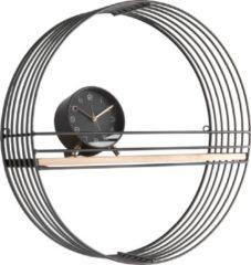 Present Time Decoratieve objecten Wall rack Linea round w. shelf Zwart