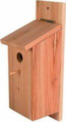 Duvo+ Nestkast koolmees bouwpakket Bruin 12,5x14,5x36cm