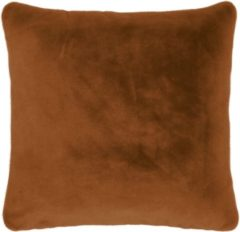 Bruine ESSENZA Furry Sierkussen Vierkant Leather Brown - 50x50 cm