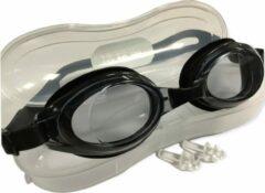Jobber Playground - Grilong Zwembril + Oordopjes voor volwassen en kinderen - Zwart