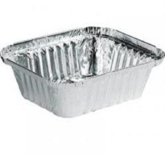 Zilveren Nevacups 100 stuks - Aluminium Wegwerp Bak 350gr (400cc)