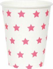 My Little Day Papieren bekers - Wit met roze sterren