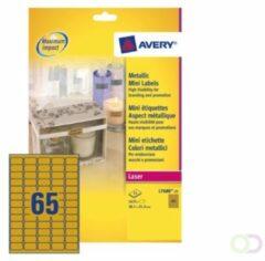Merkloos / Sans marque Huismerk Avery L7680-25 Gekleurde Etiket 38.1x21.2mm Goud