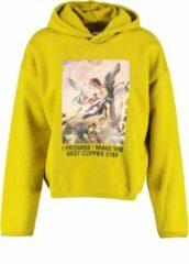 Only oversized gele sweater hoodie - valt ruim - Maat S