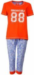 Irresistible Dames pyjama met driekwart broek van 100 % katoen. Oranje – RM