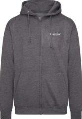 Antraciet-grijze Ballin Est. 2013 - Heren Hoodies Ziphood - Grijs - Maat XL