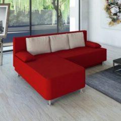 Ecksofa Bettsofa Schlafsofa Couch mit Schlaffunktion 'Magota Rot' 81 x 203 x 78 cm VCM Rot