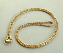 Gele 14 karaat geel gouden Christian collier