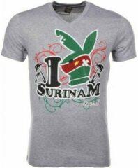 Grijze T-shirt Korte Mouw Mascherano T-shirt - I Love Suriname