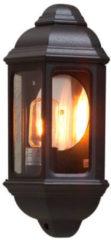 Zwarte Konstsmide Cagliari Buitenwandlamp Flush 36 cm - Matzwart