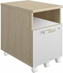 Gamillo Furniture Ladeblok Artefact 1 van 62 cm hoog in eiken met wit