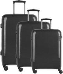 Travel Line 8200 4-Rollen Kofferset 3tlg. D&N schwarz