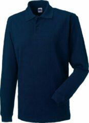 Marineblauwe Russell Europa Heren Lange Mouw Klassiek Katoenen Poloshirt (Franse marine)