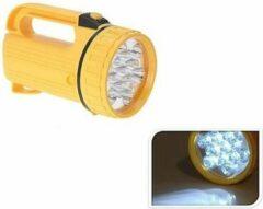 Merkloos / Sans marque Gele LED zaklamp 20 cm