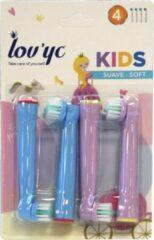 Lov Yc Kids Opzetborstels Soft Princess 4stuks