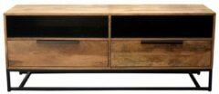 Bruine Moods Collection Borneo tv meubel 150 cm naturel en zwart mango
