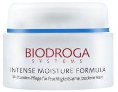 Biodroga Gesichtspflege Intense Moisture Formula 24h Pflege für feuchtigkeitsarme, trockene Haut 50 ml