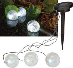 Haushalt HH70279 Solar vijverlamp set van 3, kogelvormig met Led