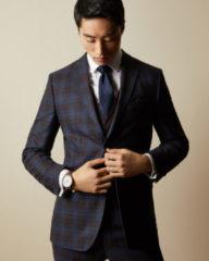 Donkerblauwe Ted Baker Blula stropdas van zijde