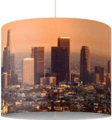 PPS. Imaging Pendelleuchte - Skyline Of Los Angeles - Lampe - Lampenschirm Braun