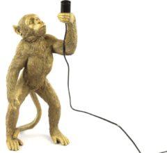 Moortje Tafellamp Staande Aap Cheeta - goud - H 65,5 cm