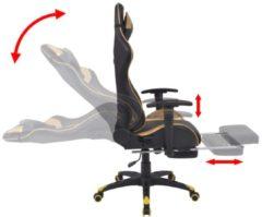 Grijze VidaXL Bureau-/gamestoel verstelbaar met voetensteun Xtreme goud